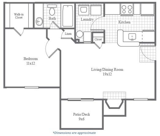 Hampton Woods Apartments: Deluxe Floor Plans